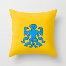 Muscle Squid Throw Pillow