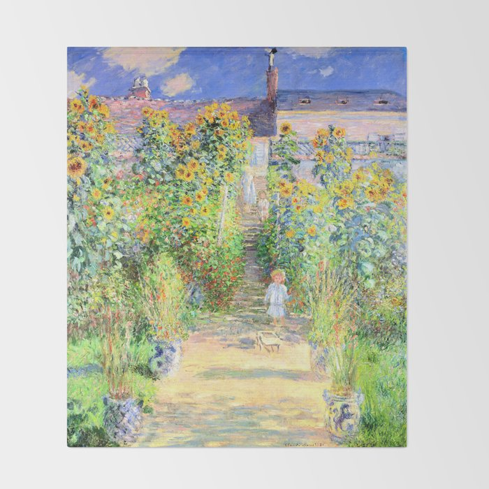 Monets Garden At Vetheuil Throw Blanket