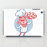 chef iPad Cases featuring Pizza Chef by drawgood