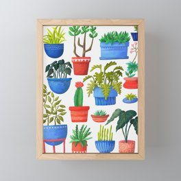House Plants Framed Mini Art Print
