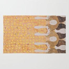 Gustav Klimt - Choir of Angels (Chor Der Paradiesengel) Rug