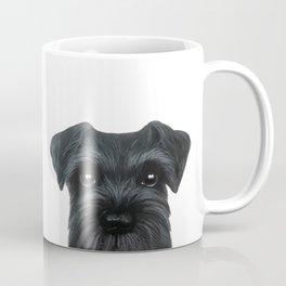 New Black Schnauzer, Dog illustration original painting print Coffee Mug