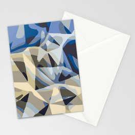 blue and grey abstract background in panorama Stationery Cards