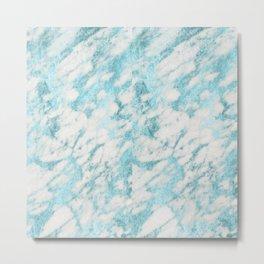 aqua marble Metal Print
