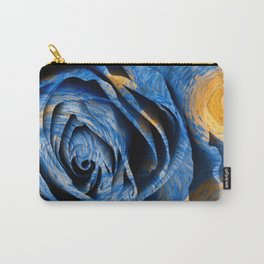Starry Night Rose Carry-All Pouch