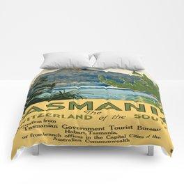 Vintage poster - Tasmania Comforters