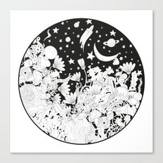 Cartoon Night Canvas Print