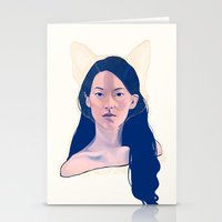 kitsune Stationery Cards featuring Kitsune by days & hours