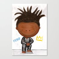 basquiat Canvas Prints featuring BASQUIAT by LesliePinto