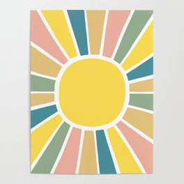 Retro Sunshine Poster