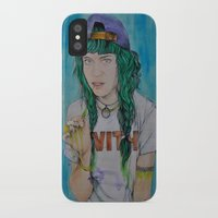 grimes iPhone & iPod Cases featuring Grimes by Jenn
