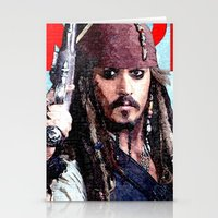 jack sparrow Stationery Cards featuring Jack Sparrow by Brian Raggatt