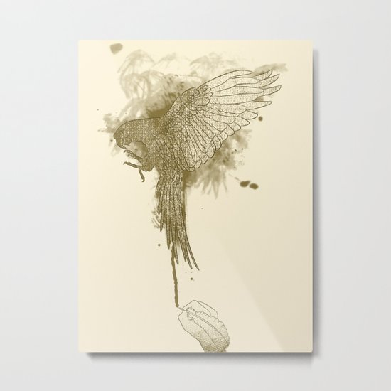 Make Fine Bird Metal Print