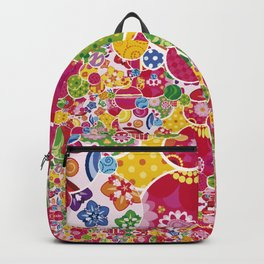 Colorful flowers B Backpack