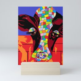 Calico Cow Mini Art Print