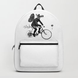 *Bycicle ride. Backpack
