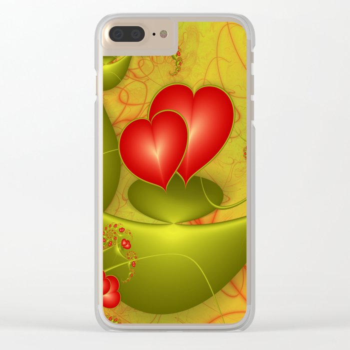 Fractal Love Clear iPhone Case