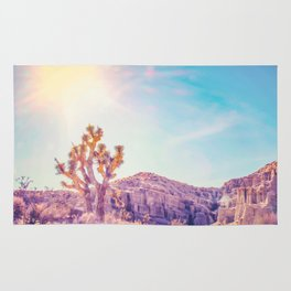 cactus at the desert in summer with strong sunlight Rug