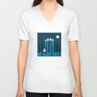 sailing V-neck T-shirts featuring Sailing by Illusorium
