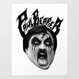 Black Metal Paul Bearer Art Print