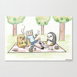 Finn, Jake, and Gunter Canvas Print