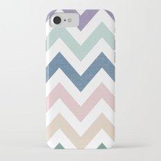 MUTED CHEVRON {COOL TONES} Slim Case iPhone 7