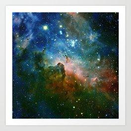 Hidden Secrets of Carina Nebula Art Print