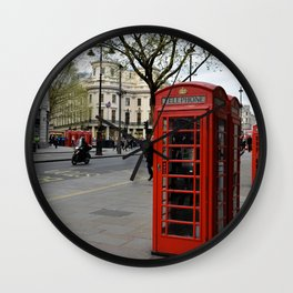 London Phone Booth Wall Clock