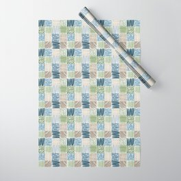 Jungle Set | hand illustrated quilt pattern Wrapping Paper