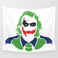 joker Wall Tapestries featuring Joker by Sourire Art