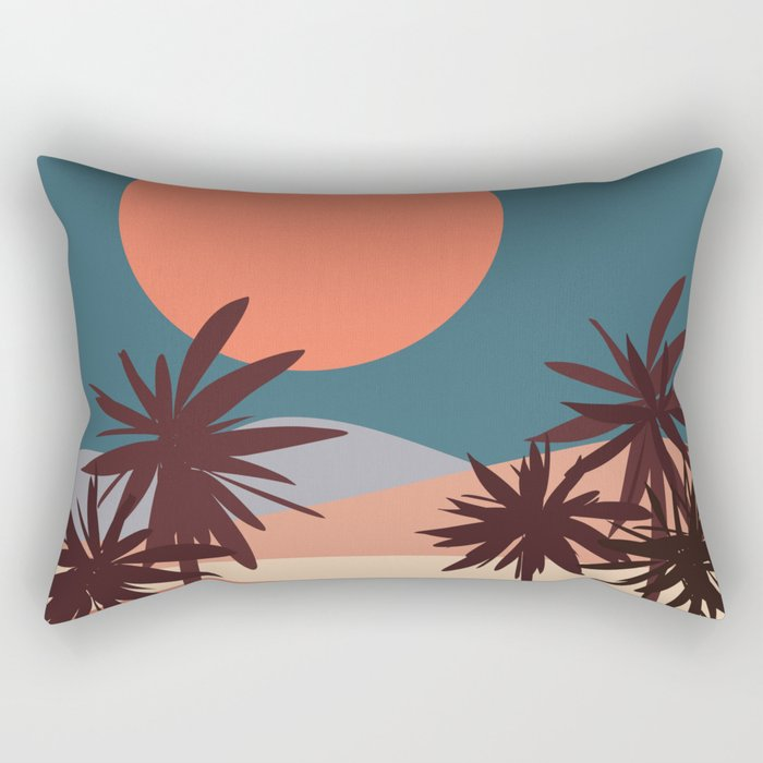 Abstract Landscape 13 Portrait Rectangular Pillow