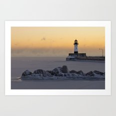 Canal Park Light House. Duluth, MN Art Print