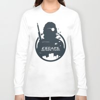 tintin Long Sleeve T-shirts featuring John Carpenter's Escape From New York by Alain Bossuyt