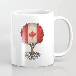 Vintage Tree of Life with Flag of Canada Coffee Mug