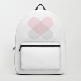 Healing Love Heart - Pink and Silver Backpack