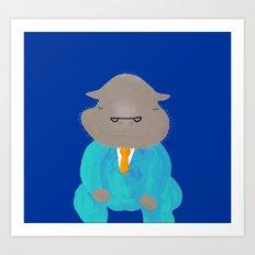 Napping Mr.Hippo Art Print