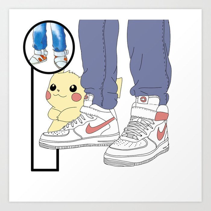 Trainers in Trainers - Red Art Print