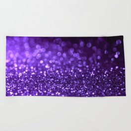 Pantone Color 2018 Ultra Violet Purple Glitter Beach Towel