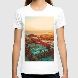 Santa Monica beach evening light T-shirt