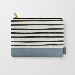 Dusty Blue x Stripes Carry-All Pouch