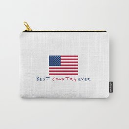 flag of the usa - Best country ever. Carry-All Pouch