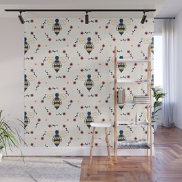 Floral Honeycomb Wall Mural