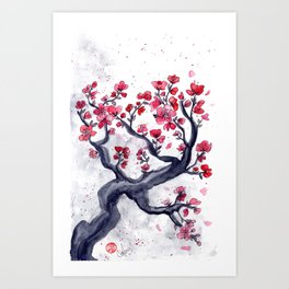 Japanese Plum (ume) Watercolour Art Print