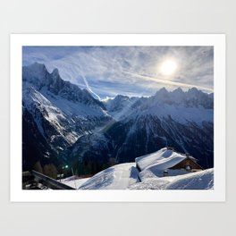 Winter Sun \\  French Alps Art Print