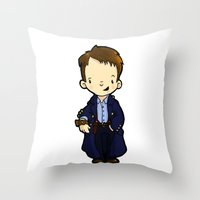 jack Throw Pillows featuring JACK by Space Bat designs