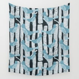 For the Birds and Birch Trees Wall Tapestry