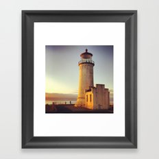 Lighthouse at Cape Disappointment Framed Art Print