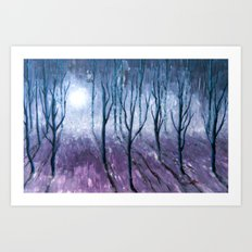 All vails and misty Art Print