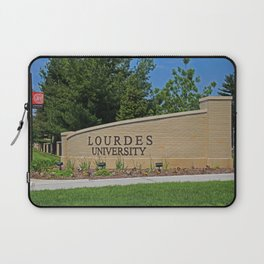 Lourdes University- Lourdes Entrance in the Spring I Laptop Sleeve