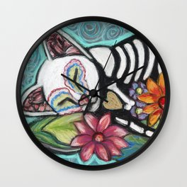 Buffy Day of the Dead Cat Wall Clock